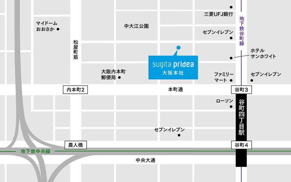 大阪本社周辺地図